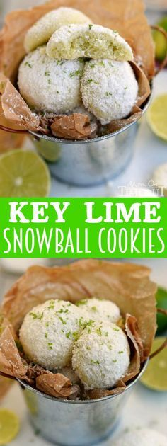 With just FIVE ingredients, these Key Lime Snowball Cookies are easy to make and even easier to eat! No one can eat just one! | MomOnTimeout.com | #recipe