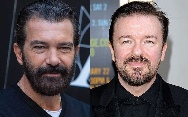 Separated at birth: Antonio Banderas and Ricky Gervais