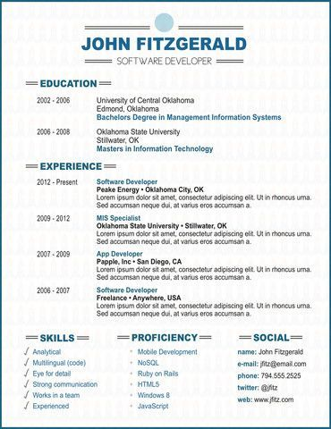 Best Resumes Images On   Design Resume Resume Ideas