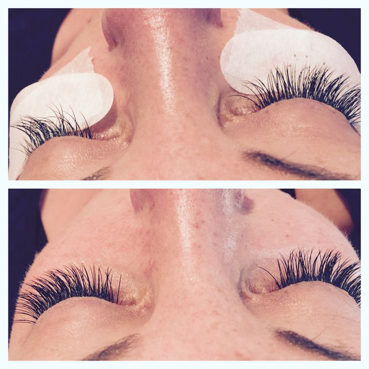 Clasdic lashes, before and after. Mink lashes C 0.20, 12mm