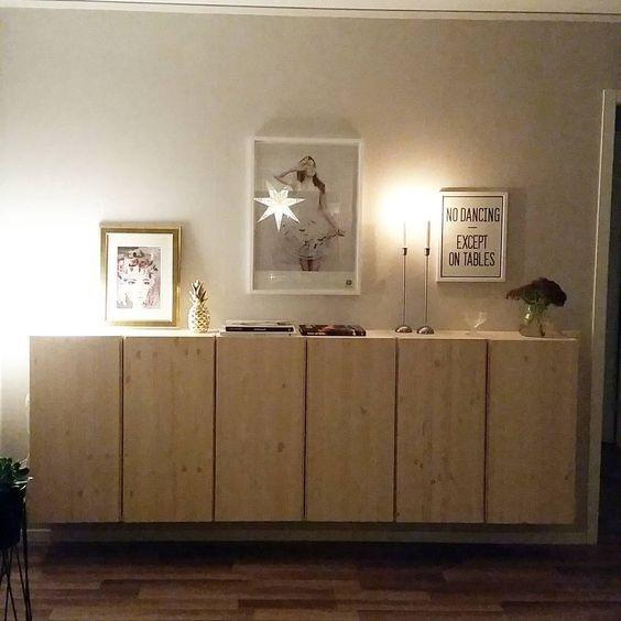 Ikea 'Ivar' cabinets misschien voor onder de tafel... is alleen niet heel diep