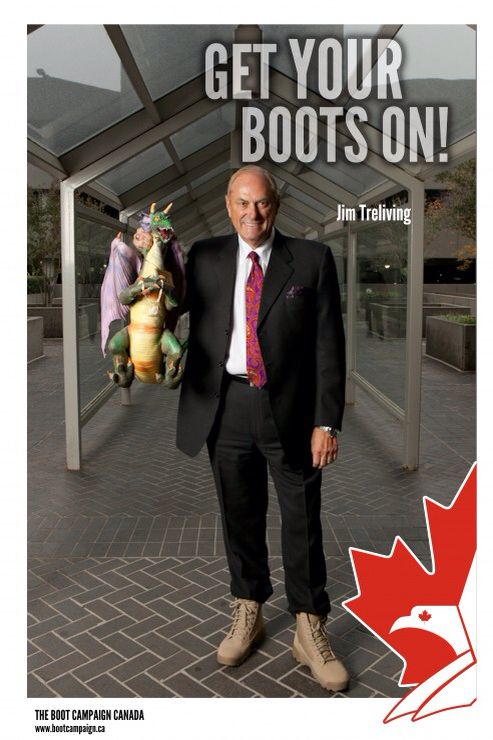 Thank you Boston Pizza and Dragon's Dens Jim Treliving for getting HIS Boots On to support Canadian Military, RCMP, and First Responders! You can get YOUR Boots On too! Www.bootcampaignstore.ca