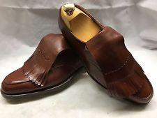Amazing Bespoke John Lobb Tan Leather Fringed GOLF Shoes UK 7 RRP £4000+