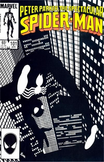 Spectacular Spider-Man # 101 by John Byrne (April 1985)