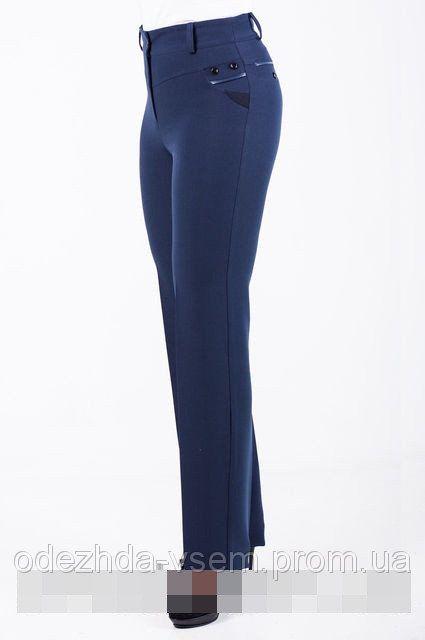 Купить Прямые женские брюки черного синего цвета, Торри размеры  46 48 50 52 8cbb1019891