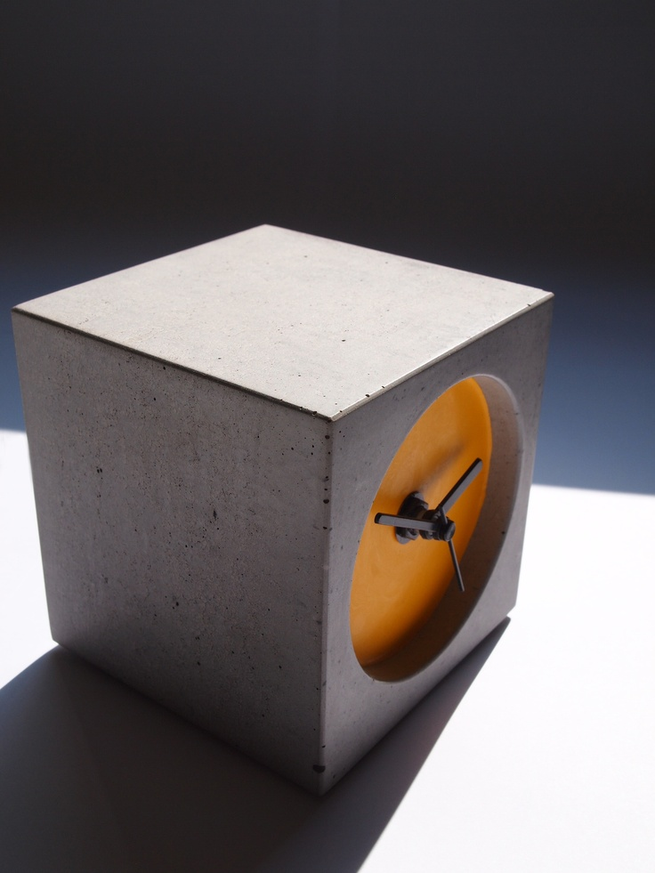 concrete block with orange