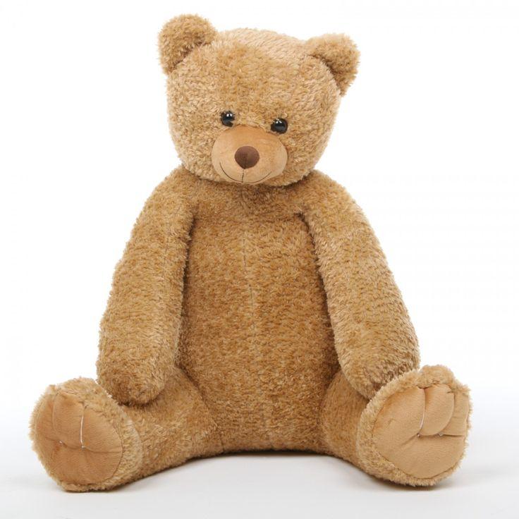 Giant Teddy - Tiny Shags Chubby and Adorable Mocha Brown Teddy Bear 27in - Giant Teddy