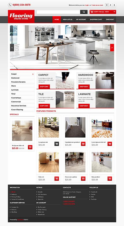 Interior & Furniture inspirations at the Coffee Break? Browse for more Interior & Furniture and OpenCart templates!#web #webdesign #templates #website