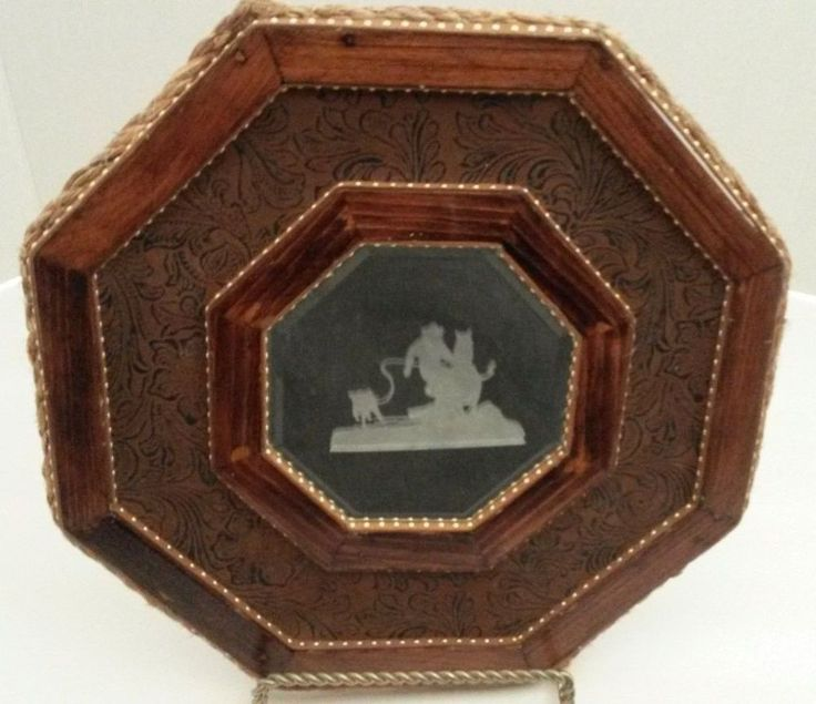 Western Mirror Etched Rustic Southwestern Framed Hand Crafted Original Unique    #Southwestern