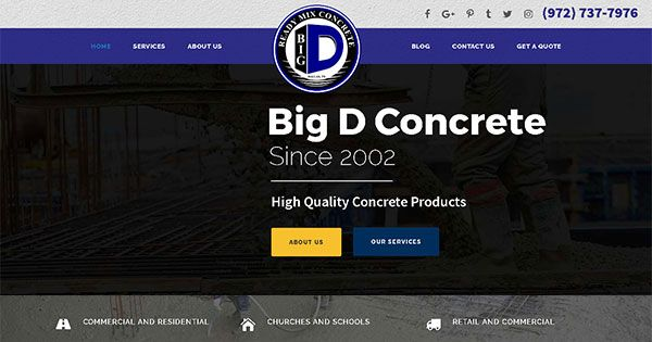 Leading ready mix concrete supplier launches its new website!  #BigDReadyMixConcrete #LeadingReadyMixConcreteSupplier #DallasWorldClassPoncreteProducts #ReadyMixConcreteSupplier #ReadyMixConcreteSupplierNewWebsite  https://www.bigdreadymix.com/big-d-ready-mix-new-website/