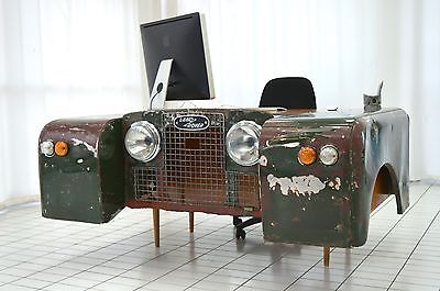 Land Rover office desk custom bespoke up-cycled car furniture hand made unique