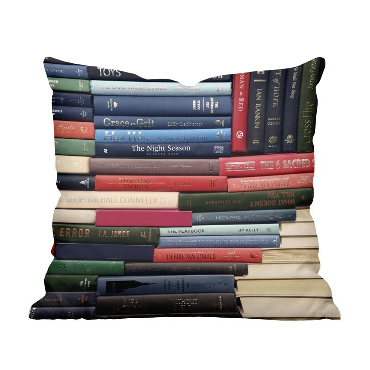 Every bookworm should have this Stacks Throw Pillow. We love the classic book print, showing off the spines of an awesome collection of novels and books. Add this charmer to your sofa or bed, or gift i...  Find the Stacks Throw Pillow, as seen in the Gifts For Grads Collection at http://dotandbo.com/collections/gifts-for-grads?utm_source=pinterest
