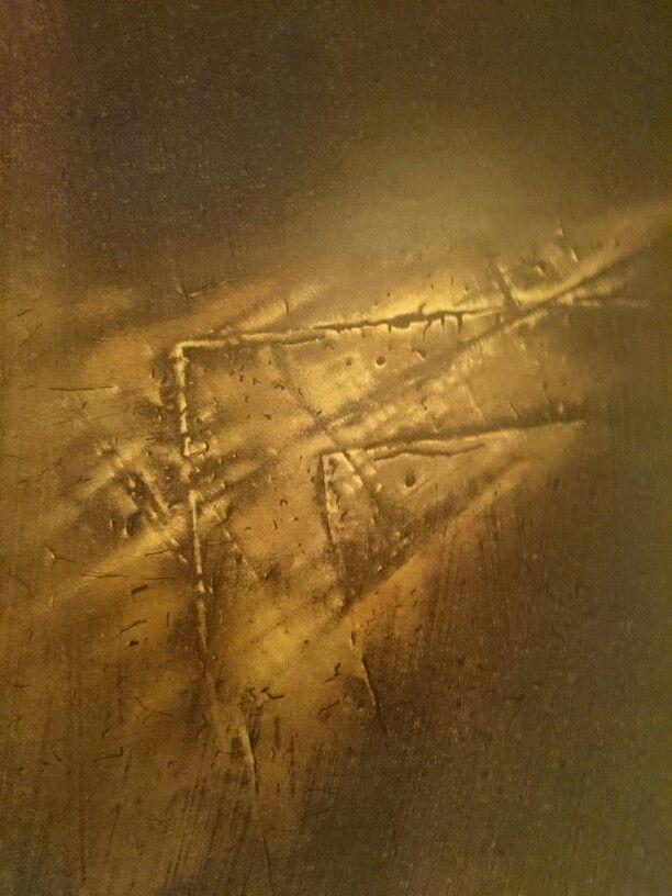 Jacek Jaroszewski- Znak II- litography 42x30 cm, 1991