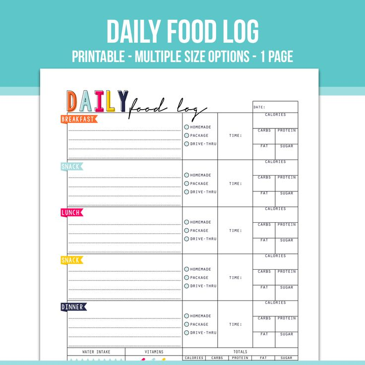 Best  Food Log Ideas On   Food Journal Printable
