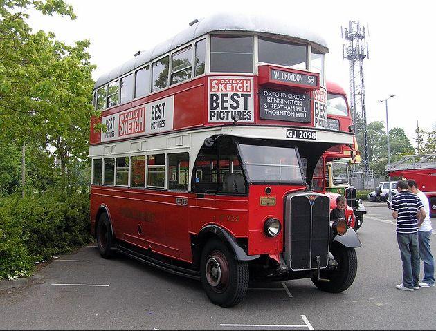 London Transport pre-war ST type bus. (AEC Regent)