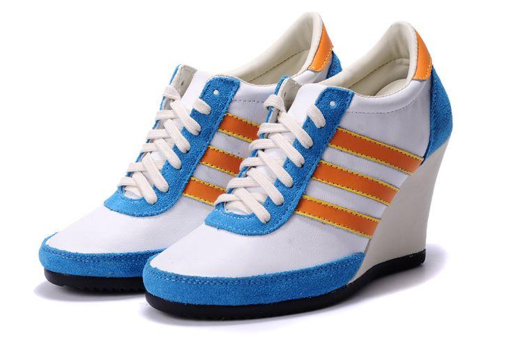 Adidas Originals JS klassiek met hoge hakken platform damesschoenen wit blauw oranje adidas schoenen