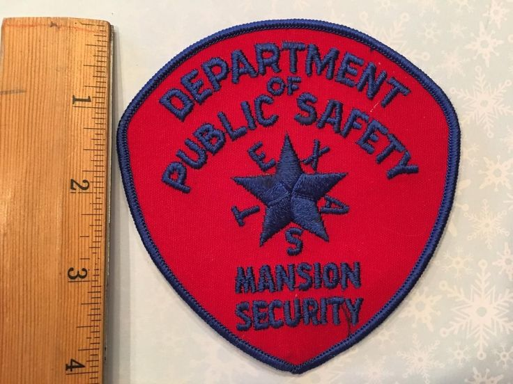 Dps govs mansion security texas police police patches