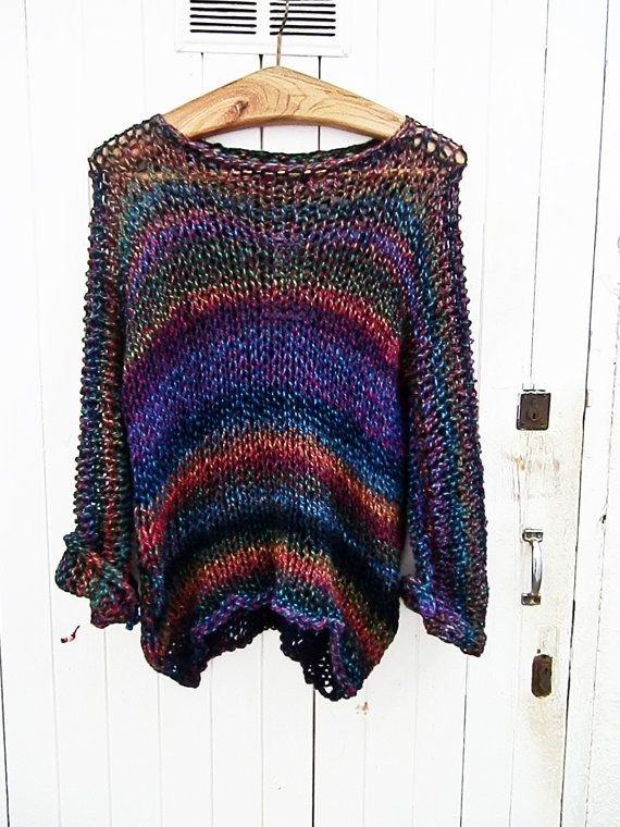 Multicolor sweater by armarioenruinas on Etsy