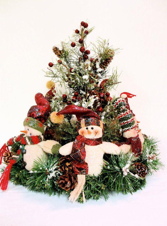 "SOLD ""Ring Around the Christmas Tree"" Snowman Christmas Centerpiece Arrangement  by SandyNewhartDesigns    http://www.etsy.com/shop/SandyNewhartDesigns?ref=seller_info_count: Centerpieces Ideas, Snowman Christmas Trees, Christmas Centerpieces, You, Christmas Decor, Centerpieces Arrangements, Christmas Ideas, Arrangements Rings,  Flowerpot"