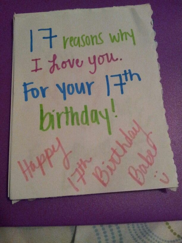 Something I Did For My Boyfriend Its Like A Little Booklet Type Thingy 17 Reasons Why Love Him His 17th B