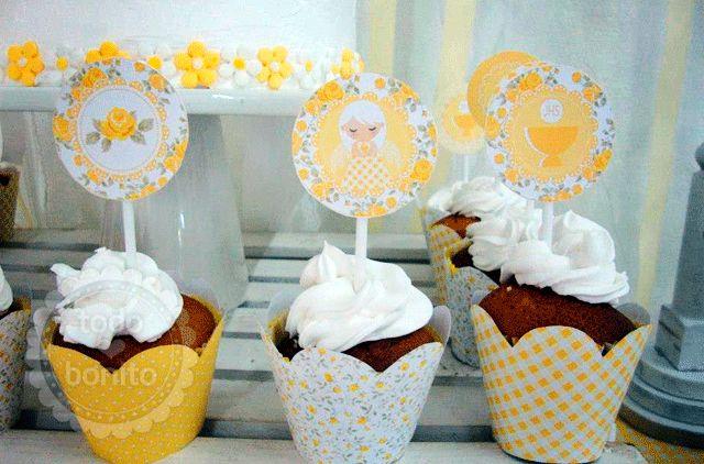 Celebraciones Caseras: fiesta primera comunión amarillo
