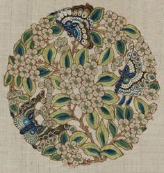 Fragment of a robe (pao) Chinese, Qing dynasty, 1880–90 China Dimensions Overall: 21.3 x 21 cm (8 3/8 x 8 1/4 in.) Medium or Technique Silk embroidered with silk and couched with gold-wrapped thread
