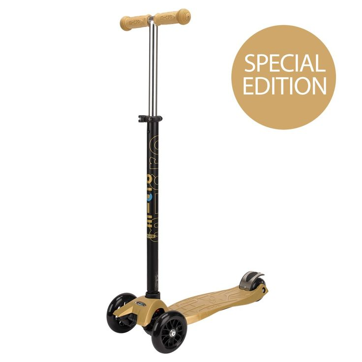 Love this!  What could be better than a GOLD scooter?!?