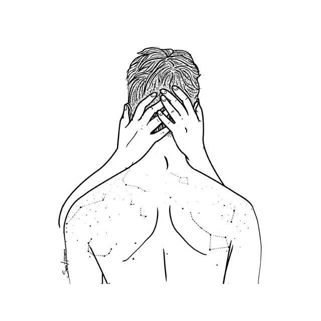 """""""y besaré la constelación de pecas de tu espalda."""""""