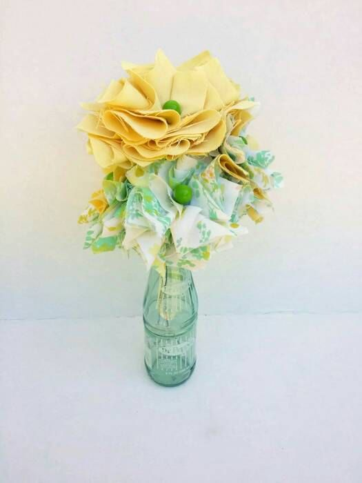 Oversized Shabby Fabric Flower Bouquet!  Repurposed Vintage Material  https://www.etsy.com/listing/230185595/large-fabric-flower-bouquet-handmade