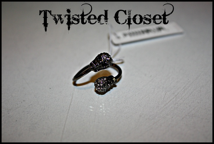Skull rhinestone ring. Get yours now at