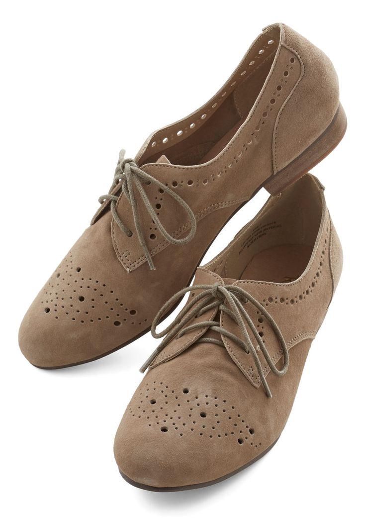Train Station Homecoming Flat. Youve been all over in your cross-country trek, but theres no better feeling than stepping off the train in these charming taupe flats by Restricted. #tan #modcloth