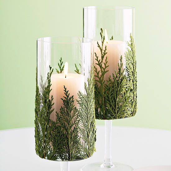 Top Christmas Centerpiece: Greenery-Wrapped Centerpiece