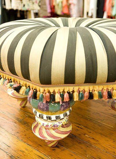MacKenzie Childs Inspired Furniture | MacKenzie Childs Ottoman