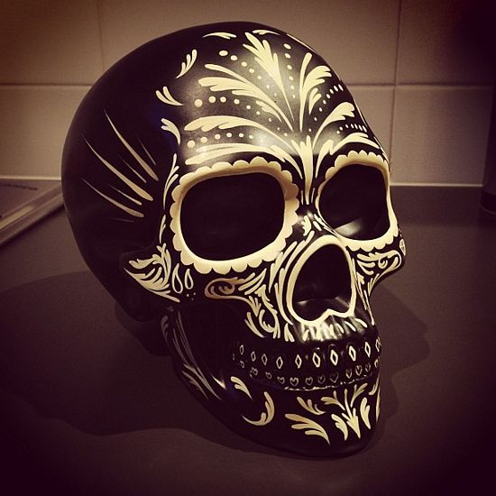 Mexican Hand Painted Skulls