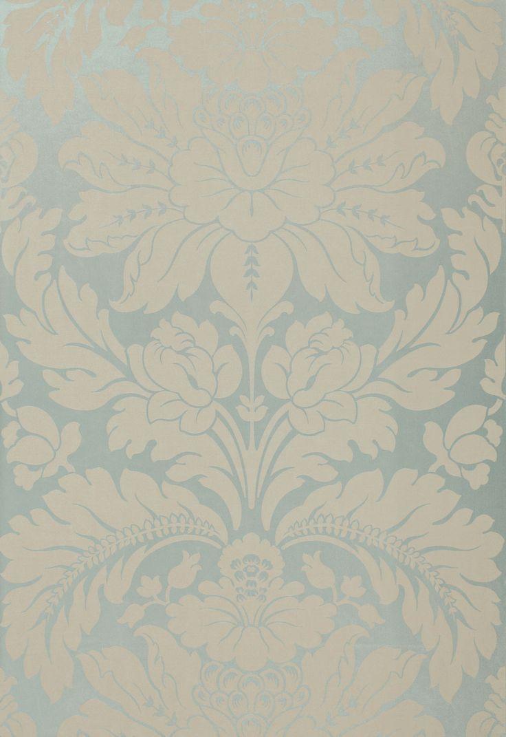 Fabric | Anvers Damask in Azure | Schumacher