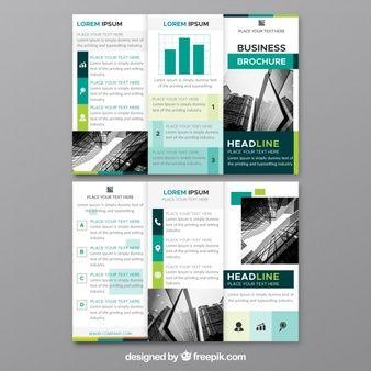 modern trifold flyer template 设计 折页 pinterest flyer