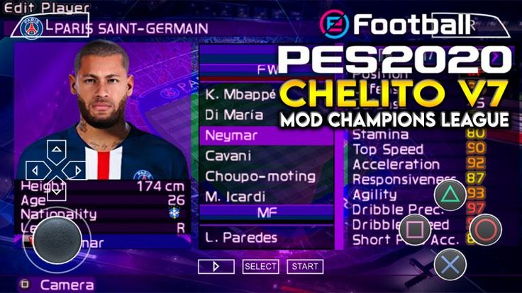 PES 2020 Chelito V7 Mod UCL PPSSPP (Android/Offline) in