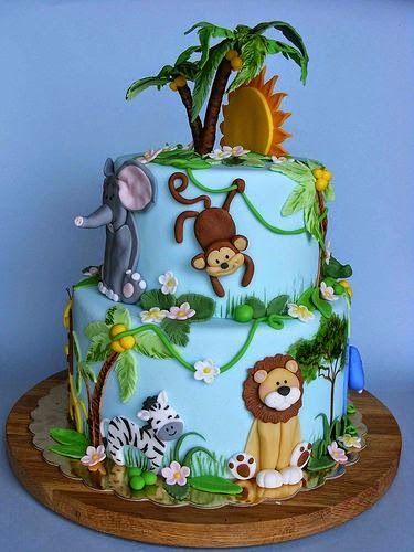Las 25 mejores ideas sobre pastel de selva en pinterest y for Tortas decoradas faciles