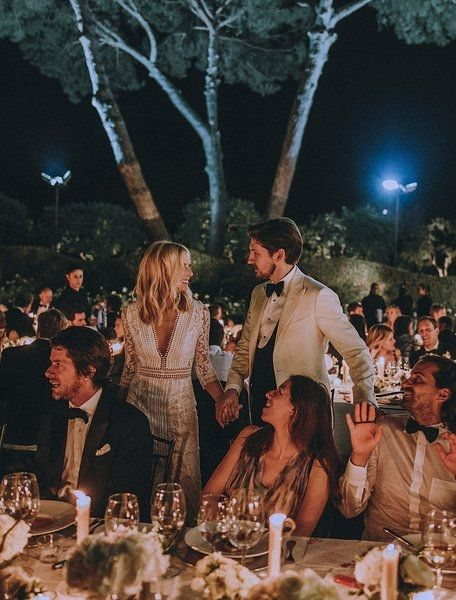 Designer Katherine Holmgren of Galvan and Erik Serrano Berntsen's summer wedding in Seville.