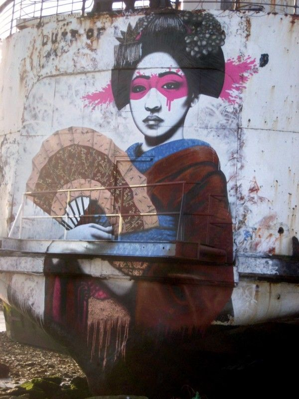 ✯ By Fin DAC. At The Black Duke open air galleryin North Wales, United Kingdom.✯