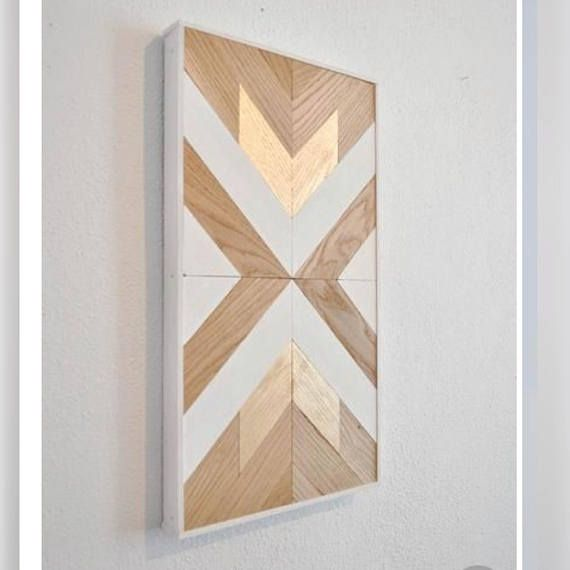 Created by hand, this wood wall art has been intricately designed to accentuate …