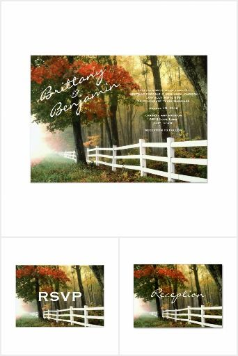 53 best Fall Wedding Invitations images on Pinterest Fall wedding - invitation template nature
