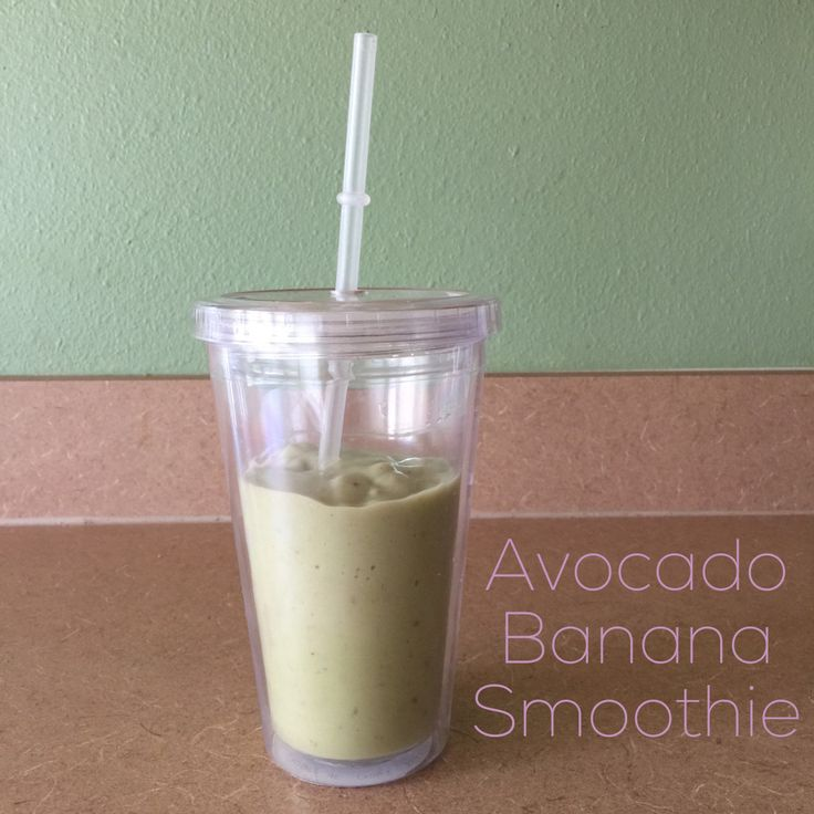 This creamy avocado banana smoothie helps your heart — and your ...
