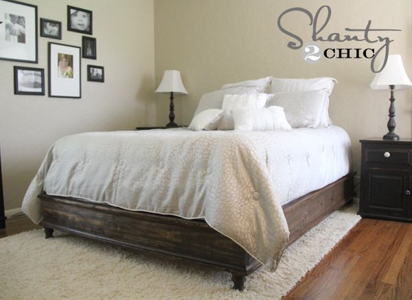 DIY Queen Platform Bed - Shanty 2 Chic