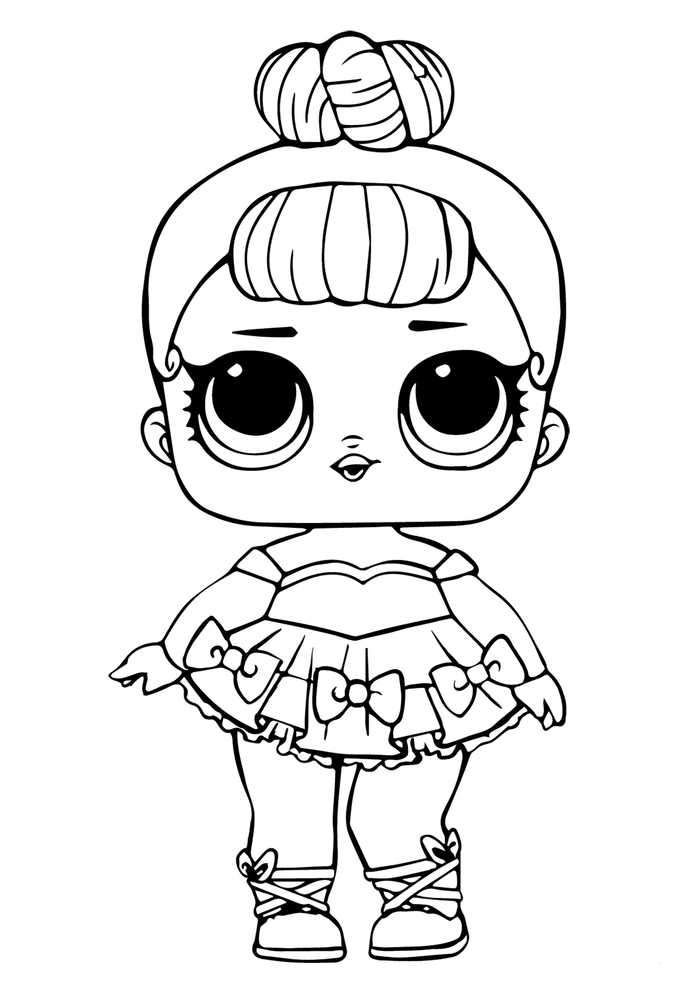 Lol Doll Coloring Page Miss Baby Glitter Kitty Drawing Cool