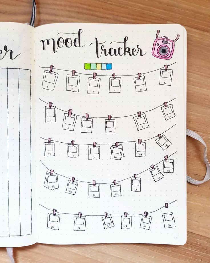 bullet journal mood tracker | polaroid
