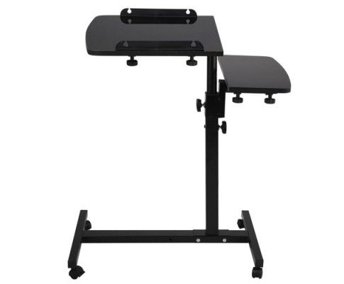 * Featuring a sleek and stylish design with great functionality, the 360 Rotating Mobile Laptop Adjustable Desk Black will make ideal furniture upgrade for your home. The adjustable tilt tabletops and stand height provide high flexibility to suit for different sitting positions.   http://www.rosaelonline.com.au/product/rotating-mobile-laptop-adjustable-desk-black-sku-la-desk-leo-l1-bk/