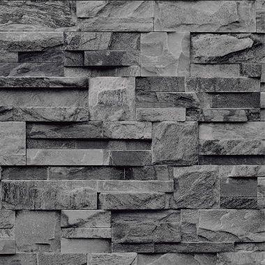 Behang Steen (grijs) - Koziel