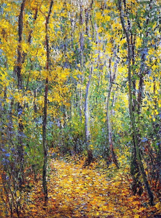 Claude Monet Wood Lane...Looks just like fall here in Aspen!