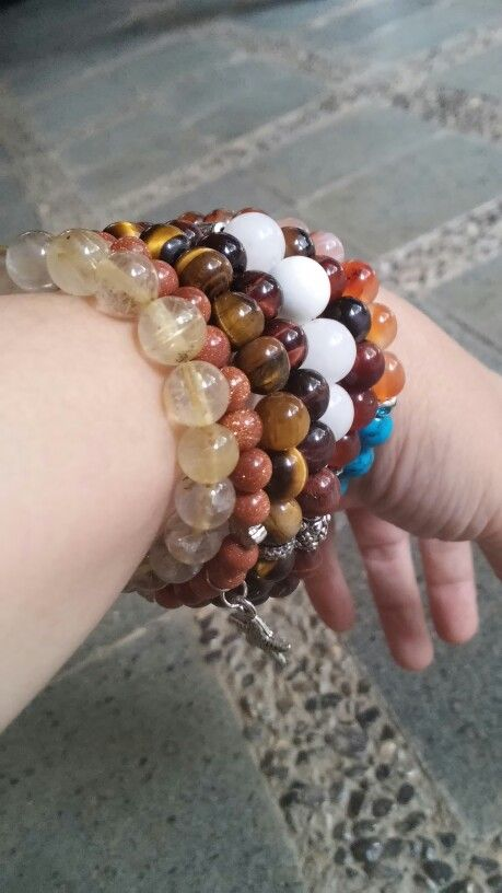 To make stone bracelets  is to make people happy...